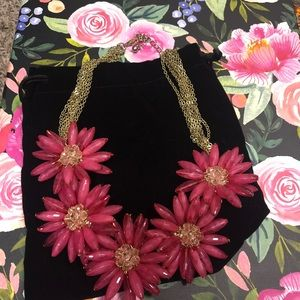 Statement necklace! Pink & gold